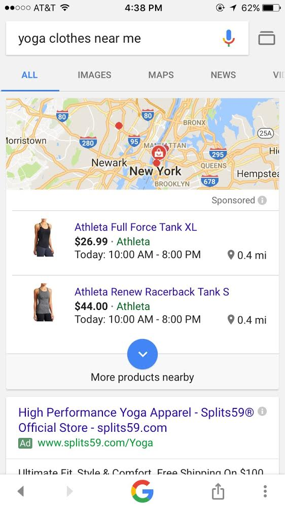 yoga clothes near me google results