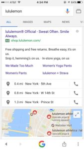 lululemon search results