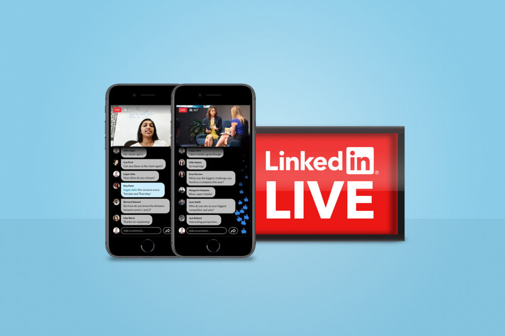 LinkedIn Live example on mobile.