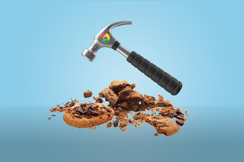 hammer crushing cookies